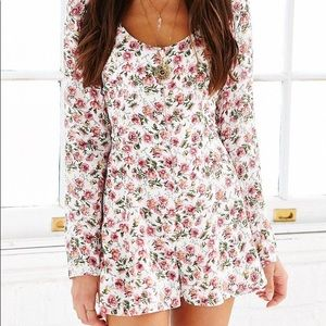 Lucca Couture Zip Front Floral Romper